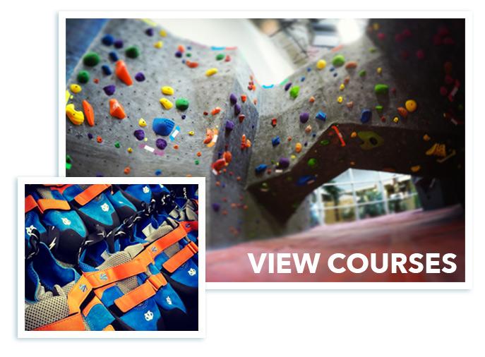 view rock climbing courses