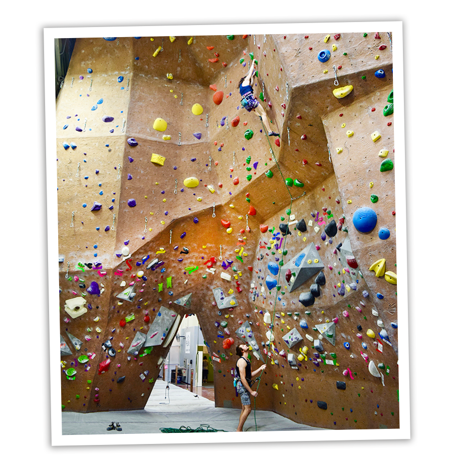 Lead climbing class in Fremont